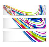 Three banners with abstract background Royalty Free Stock Image