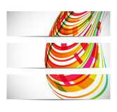 Three banners with abstract background Stock Image