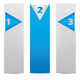 Three banners with arrows and halftones Stock Photos