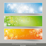 Three Banners Colored Background Royalty Free Stock Photos
