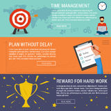 Three banners concept time management Royalty Free Stock Images