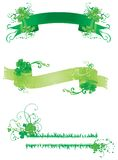 Three banners with green clover Royalty Free Stock Image