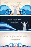 Three Banners of Passover Jewish Holiday. Illustration Stock Photography