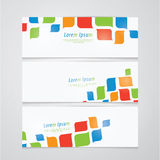 Three  banners in retro design. Royalty Free Stock Photos