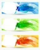 Three banners vector illustration