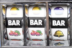 Three bar jackpot Royalty Free Stock Photos
