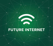 Three bar signal icon for future internet technology illustration Stock Photography