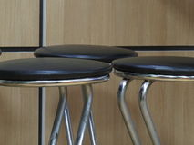 Three bar stools Royalty Free Stock Photo