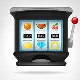 Three bar winning sings on play machine object Stock Photography