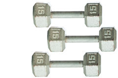 Three barbells Stock Photography