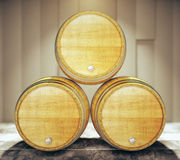 Three barrel tops Royalty Free Stock Images