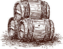 Three  barrels Stock Photos