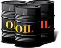 Three barrels of oil Royalty Free Stock Photos