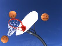 Three Baskets Stock Photos