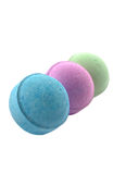Three bath bombs Royalty Free Stock Photo