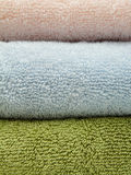 Three bath towels Stock Image