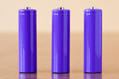 Three batteries Royalty Free Stock Images
