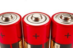 Three batteries Stock Photography
