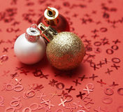 Three Baubles Royalty Free Stock Photography