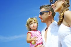 Three on beach Stock Photography