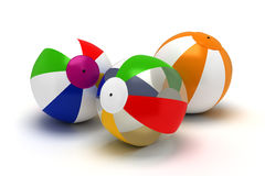 Three Beach Balls Stock Images