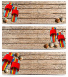 Three Beach Holidays Banners - N5 Royalty Free Stock Photos