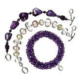 Three beaded bracelets Royalty Free Stock Photography