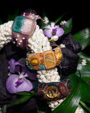 Three beaded bracelets Stock Images