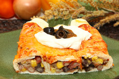 Three Bean Enchilada Royalty Free Stock Image