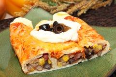 Three Bean Enchilada royalty free stock image