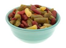 Three bean salad in a small bowl Stock Photo