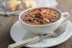 Three bean soup Stock Photos