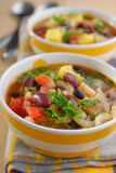Three bean soup Stock Images