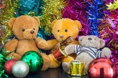 Three bear dolls Stock Image
