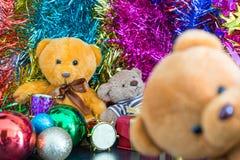 Three bear dolls Stock Images