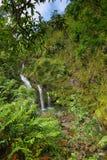 Three Bear Falls or Upper Waikani Falls on the Road to Hana Stock Photo