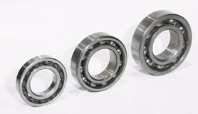 Three bearings. At white Stock Photo