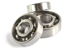 Three bearings. On the white background royalty free stock images