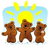 Three bears Royalty Free Stock Photography