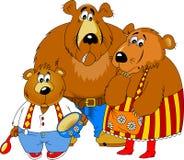 Three bears Royalty Free Stock Photography