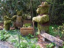 Three Bears Topiary Royalty Free Stock Photos