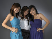 Three Beautiful Asian Girlfriends Stock Images
