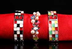 Three beautiful bracelets Royalty Free Stock Photos