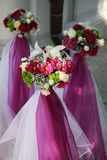 Three beautiful bridal bouquet Stock Photography