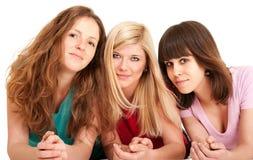 Three beautiful brunette, blonde Stock Photo