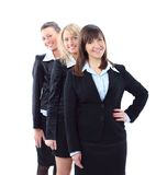 three beautiful businesswomen isolated Royalty Free Stock Photography