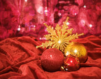 Three beautiful Christmas ball Royalty Free Stock Image