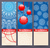 Three beautiful Christmas banners Stock Photography