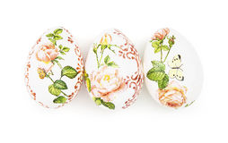 Three beautiful Easter eggs Stock Photos