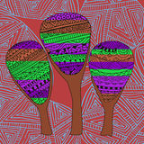 Mysterious forest. Three colorful trees abstraction.  Royalty Free Stock Photo